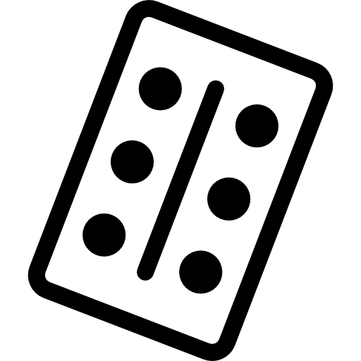 svg freeuse Piece with six dots. Domino clipart background