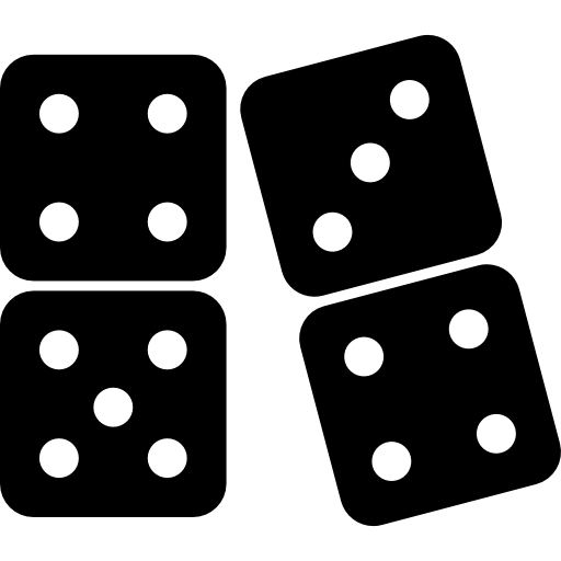 freeuse stock Dominoes flat icon . Domino clipart background