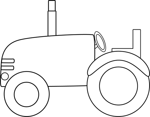 banner Tractor border clip art. Hay clipart black and white