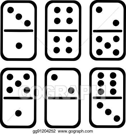 graphic stock Domino clipart dominoe. Eps illustration tiles white