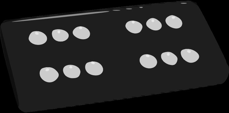 graphic transparent library Double six medium image. Domino clipart dominoe