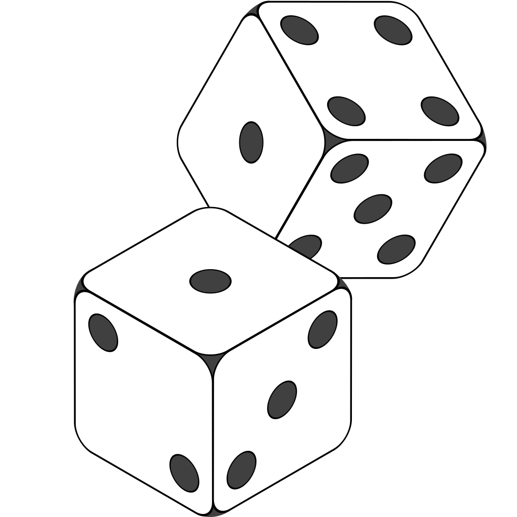 black and white library dice svg clipart #111359194