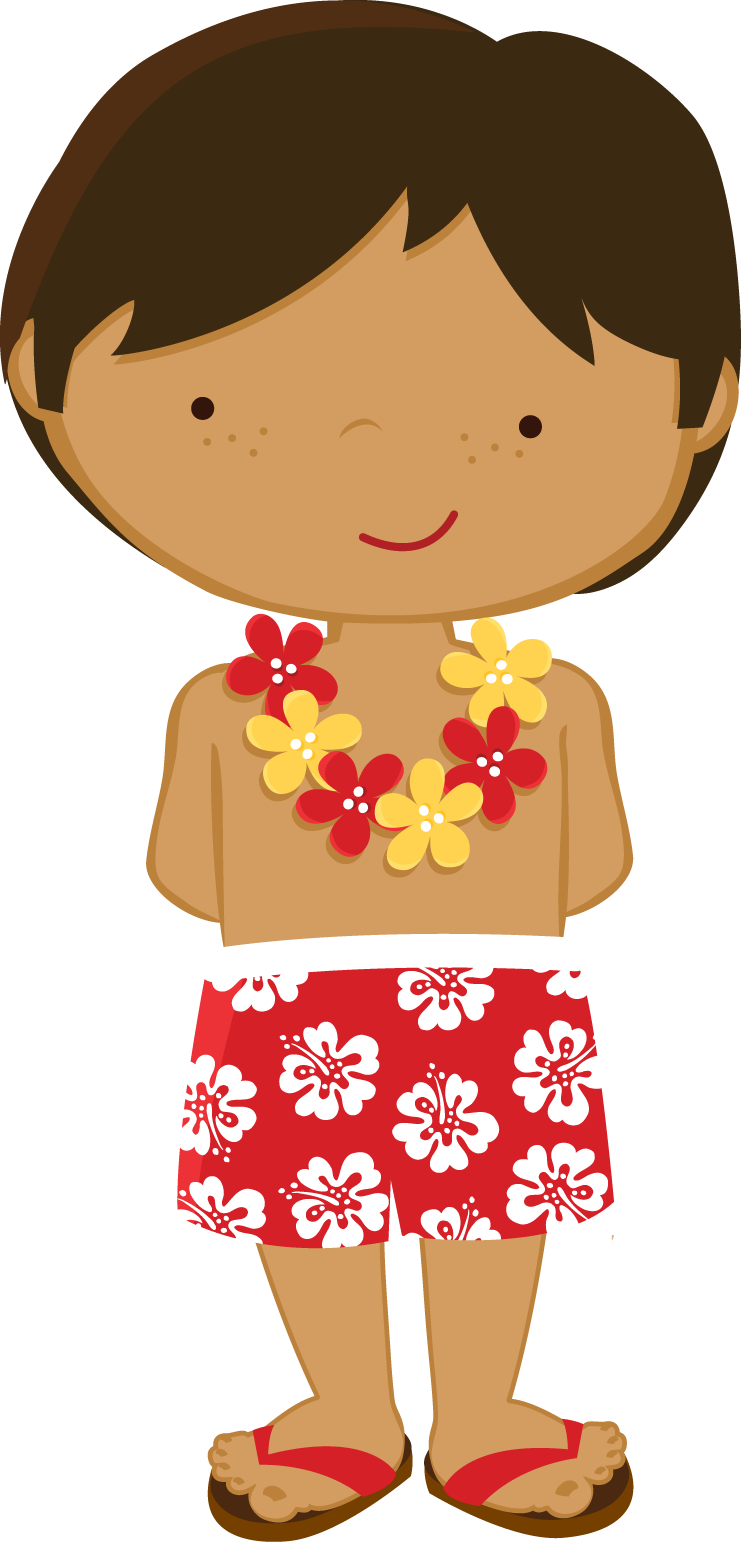 clip art black and white download Luau clipart hawaiian child. Zwd yellow hibiscus boy.