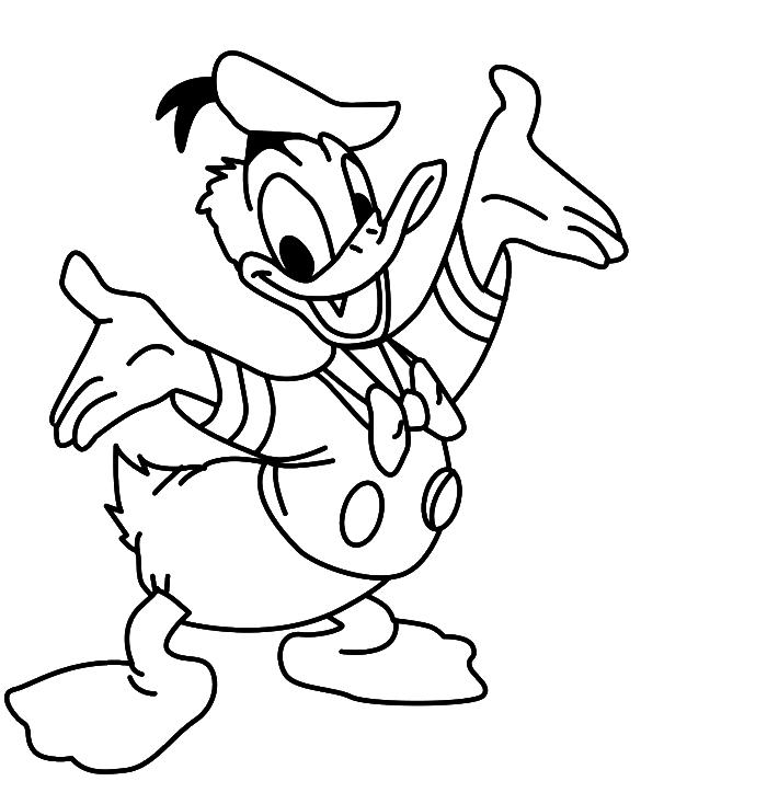 clipart transparent stock Donald Duck Cartoon Drawing at GetDrawings