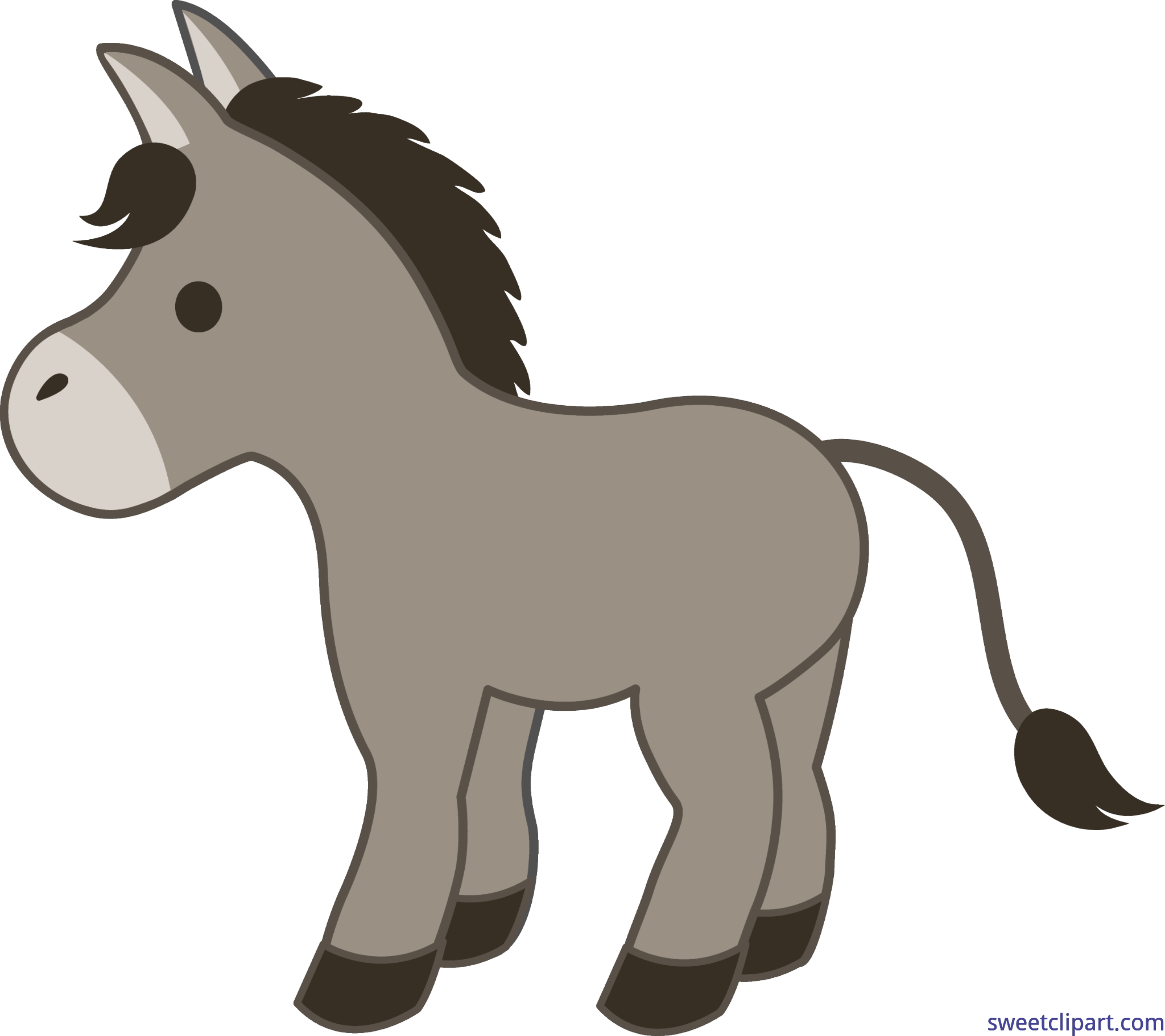 black and white download Donkey clipart. Clip art sweet.