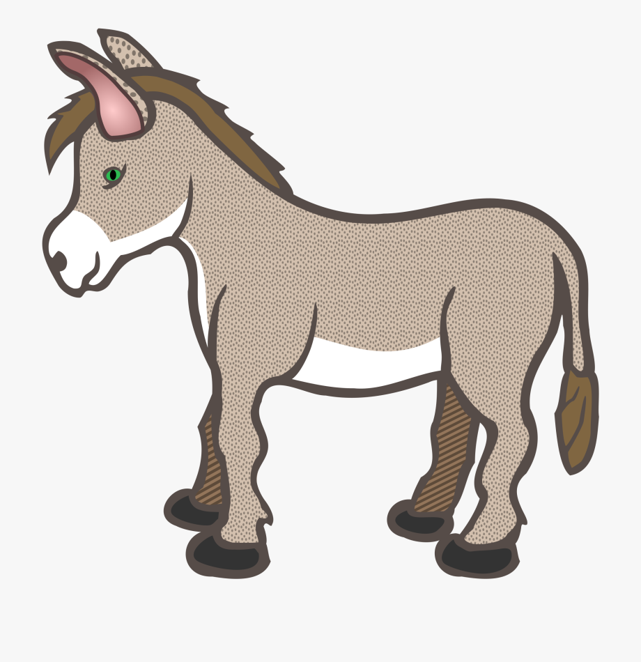 clip royalty free download Donkey clipart. Free pictures illustrations clip.
