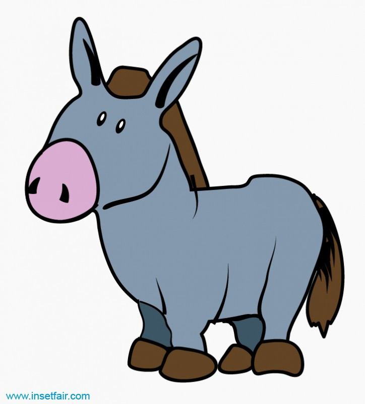clipart library . Donkey clipart.
