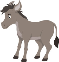 vector Free clip art pictures. Donkey clipart.
