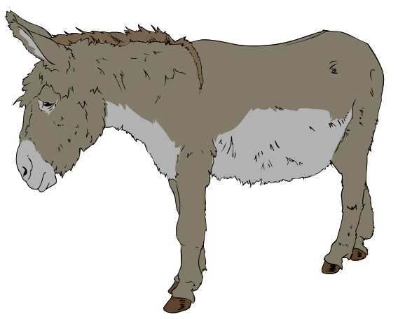 clipart royalty free download Donkey clipart. File svg wikipedia filedonkey.