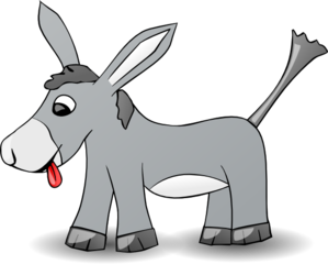 jpg royalty free download Clip art at clker. Donkey clipart.
