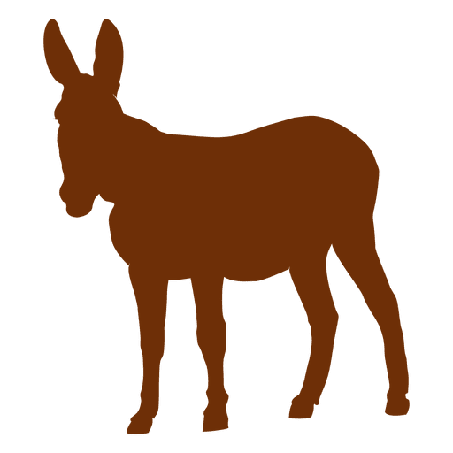 graphic royalty free download Mule clipart brown. Donkey head silhouette at.