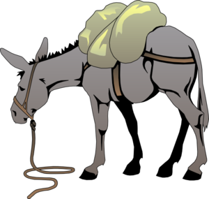 graphic royalty free library Mule clipart clip art. Cartoon donkey with a.