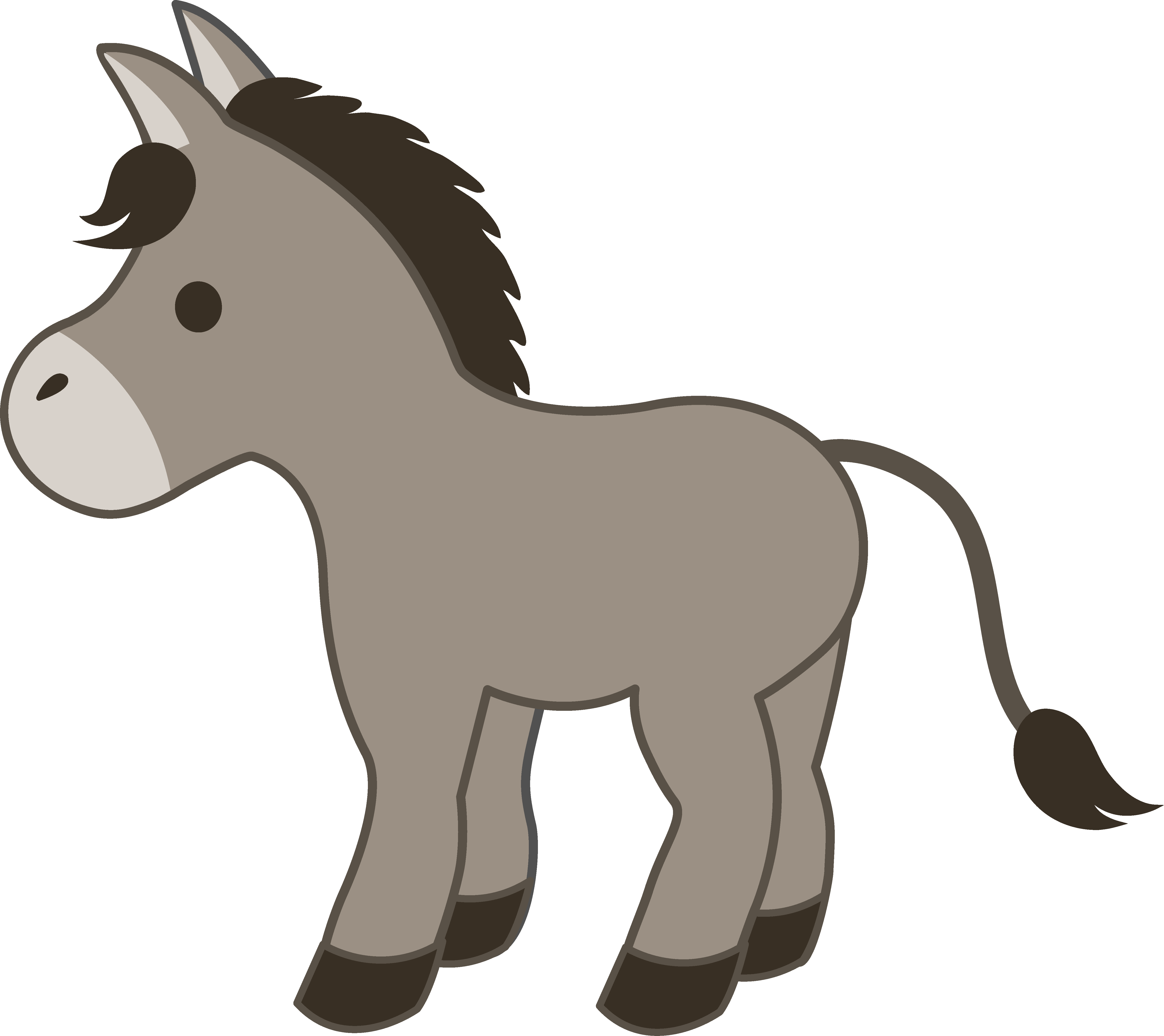 graphic transparent library Cute gray donkey free. Mule clipart dunkey.