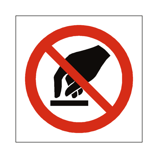 vector transparent download Do Not Touch