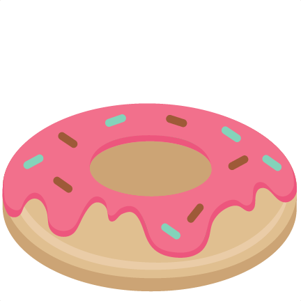 vector freeuse library Doughnut clipart. Donut svg scrapbook cut