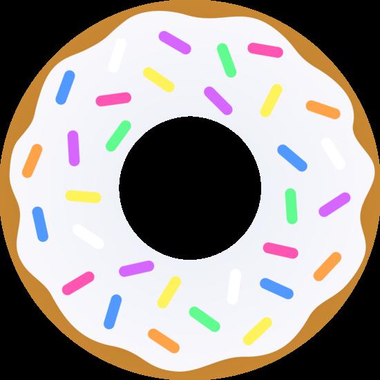 image free stock Donut clipart. Vanilla