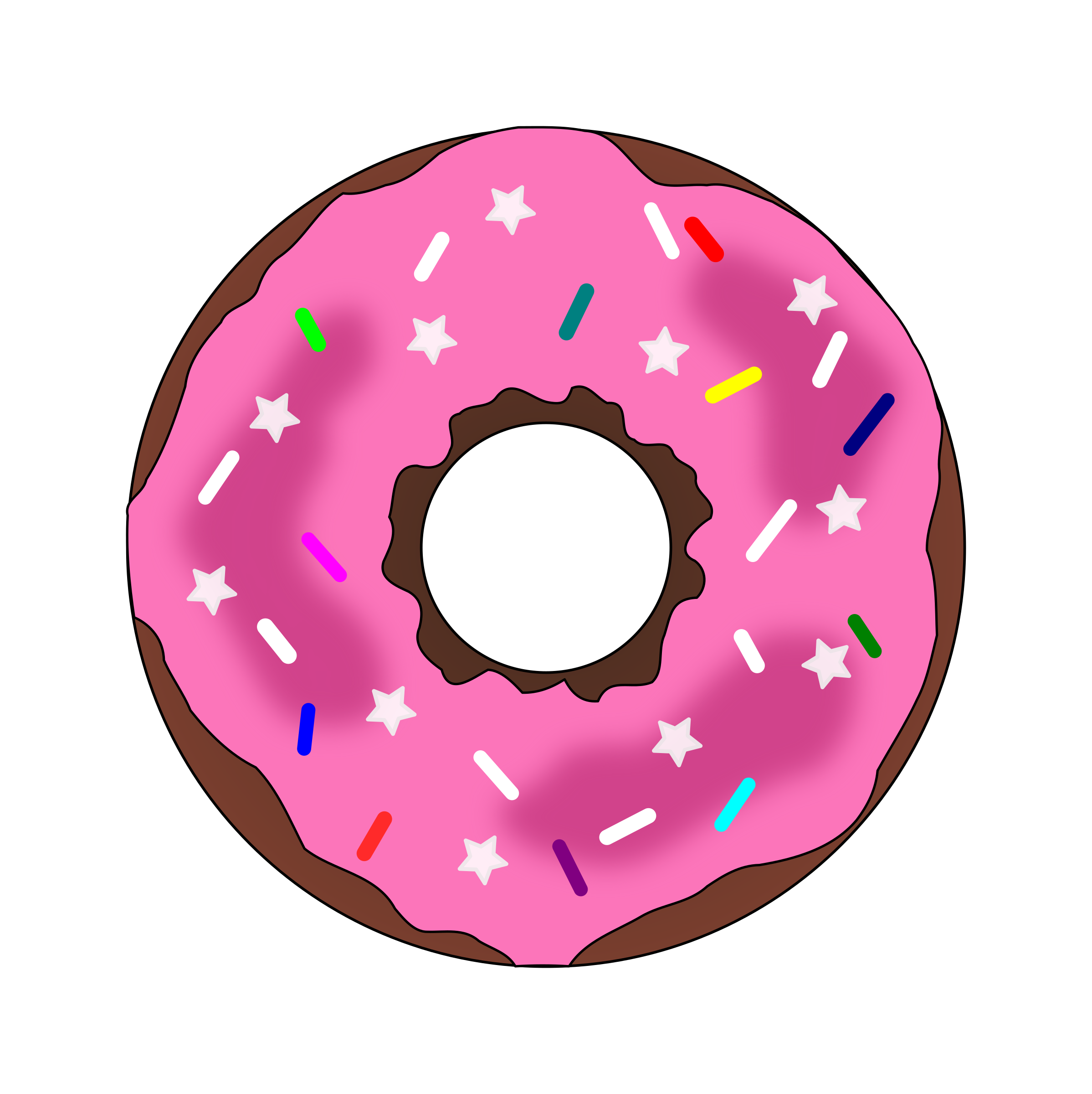 clip transparent download Stars and sprinkles icons. Vector donut pdf