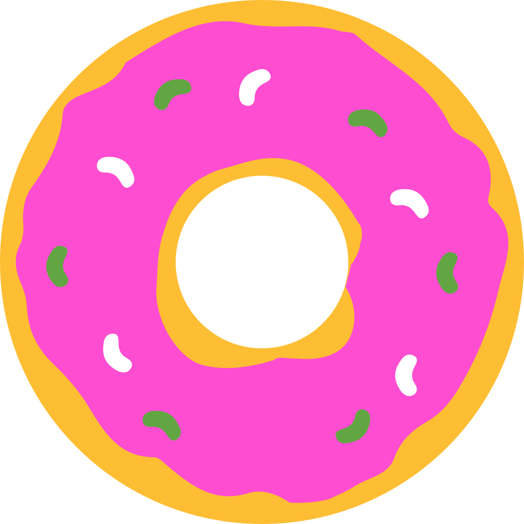 graphic download Vector donut silhouette. File simpsons svg wikipedia