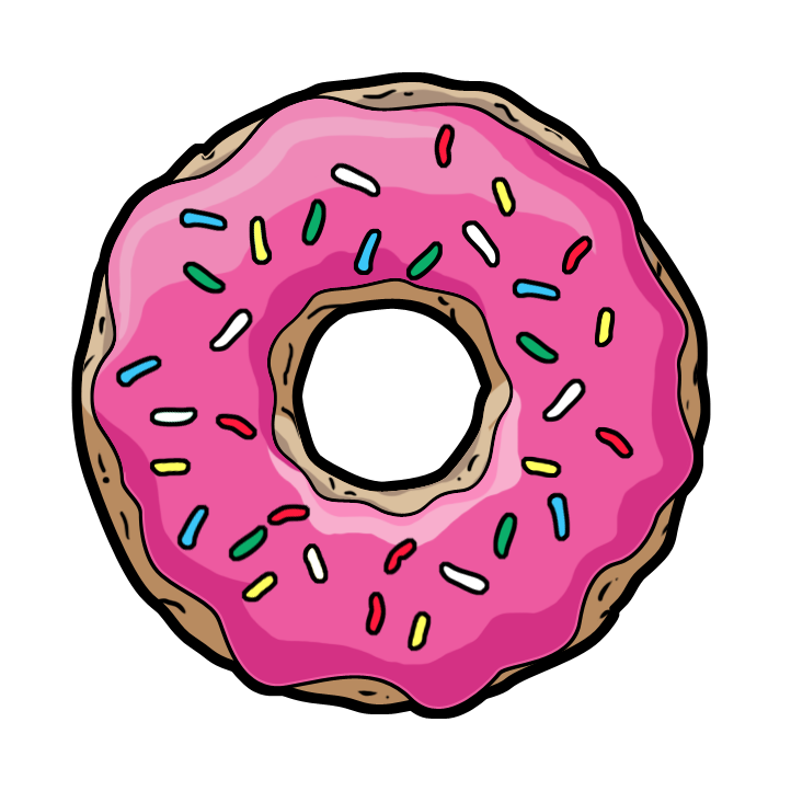 stock Tumblr transparent google search. Vector donut hand drawn