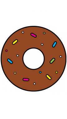 svg black and white stock Donut at getdrawings com. Snack drawing easy