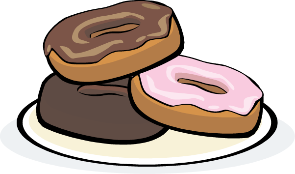 vector royalty free download Donuts . Breakfast clipart donut