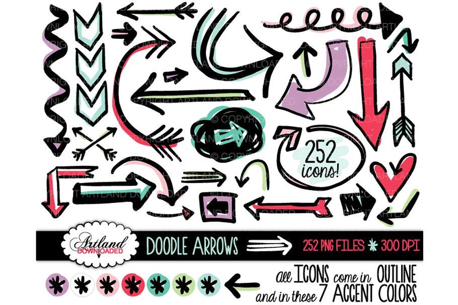 clipart transparent library Value pack illustrations creative. Doodle arrows clipart.