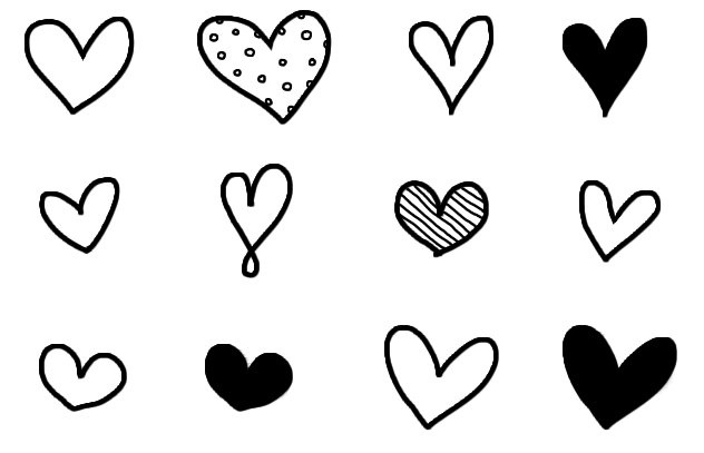 graphic library download Heart . Doodle clipart.