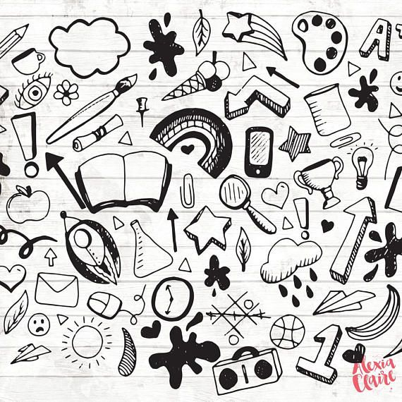 png free stock Doodle clipart. Back to school hand.