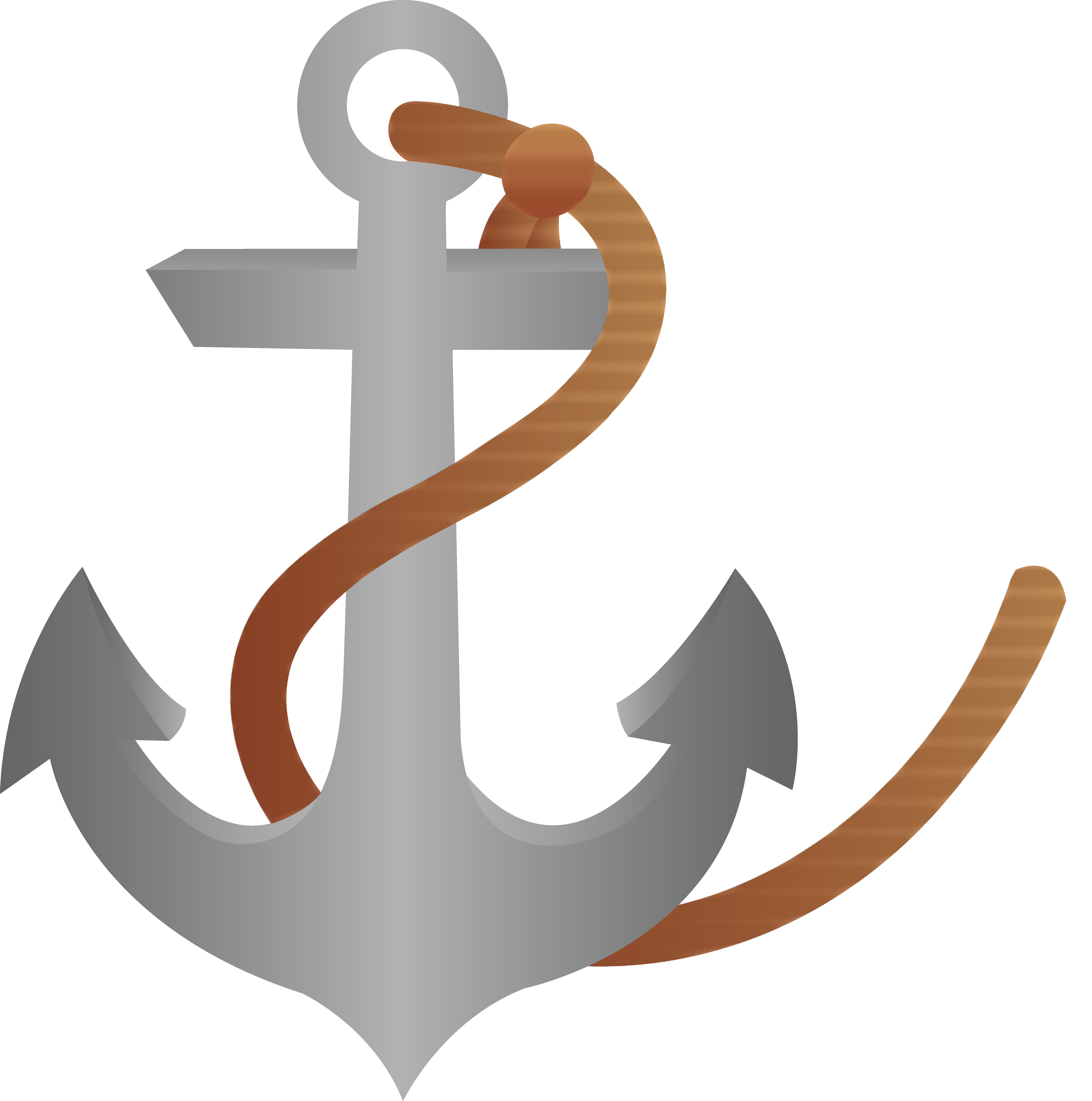 image royalty free stock Ship anchor with rope. Vector anchors illustrator