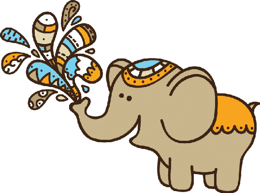 clip art stock Cute Doodle Elephant
