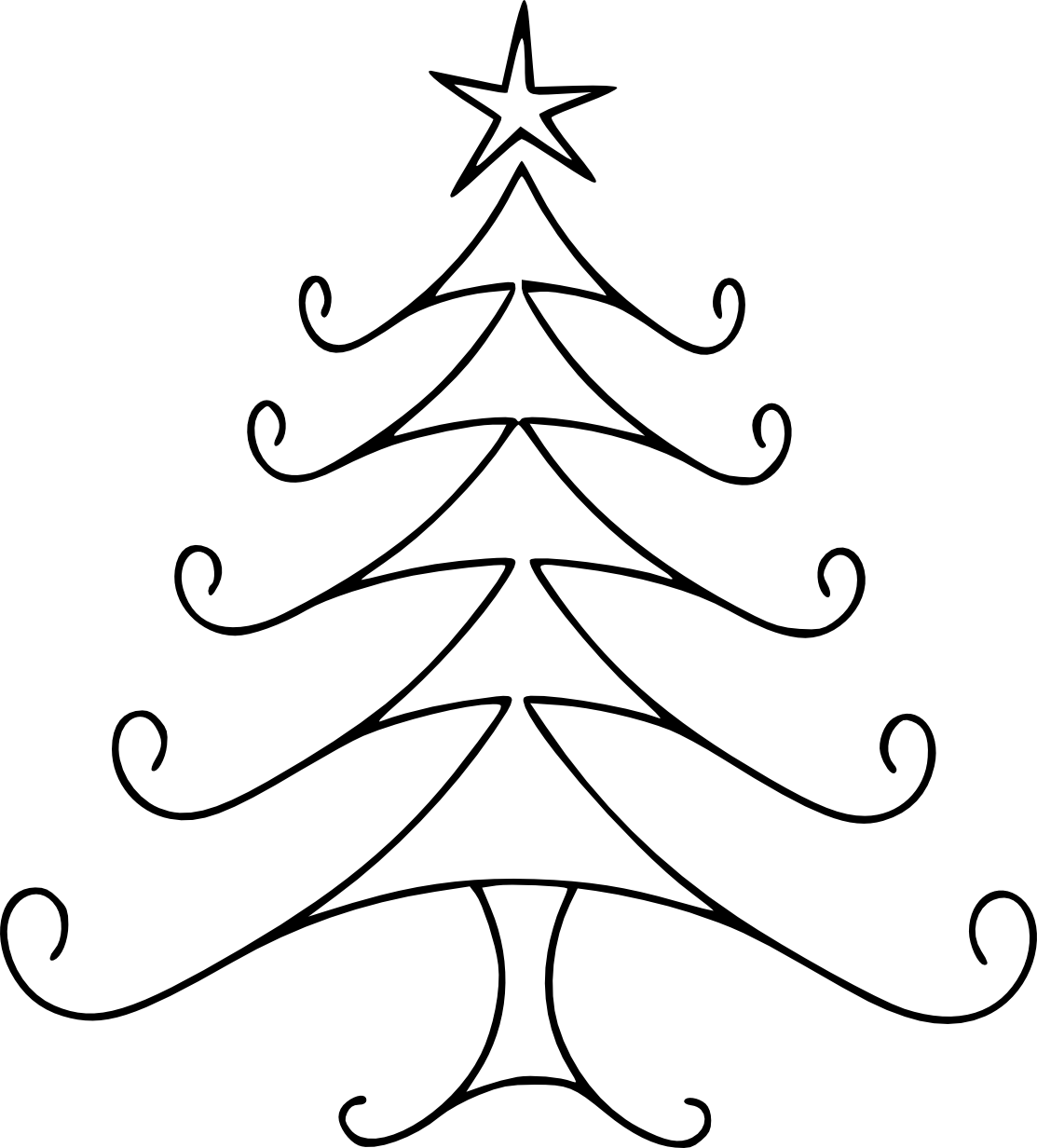 picture transparent Christmas Line Drawing