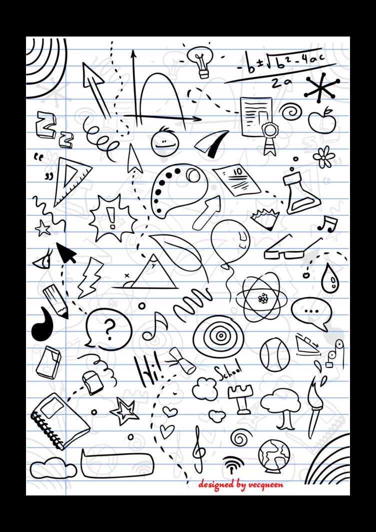 jpg black and white download Doodle vector doodling. School doodles by vecqueen