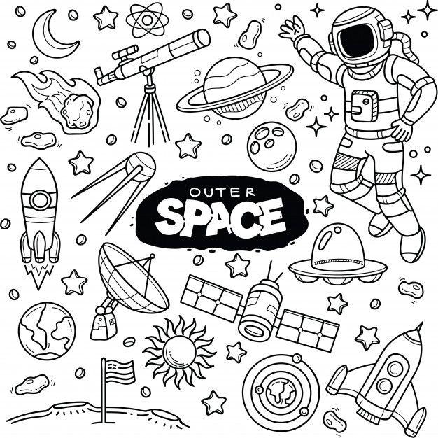 clip art free Doodle vector doodling. Outer space doodles premium