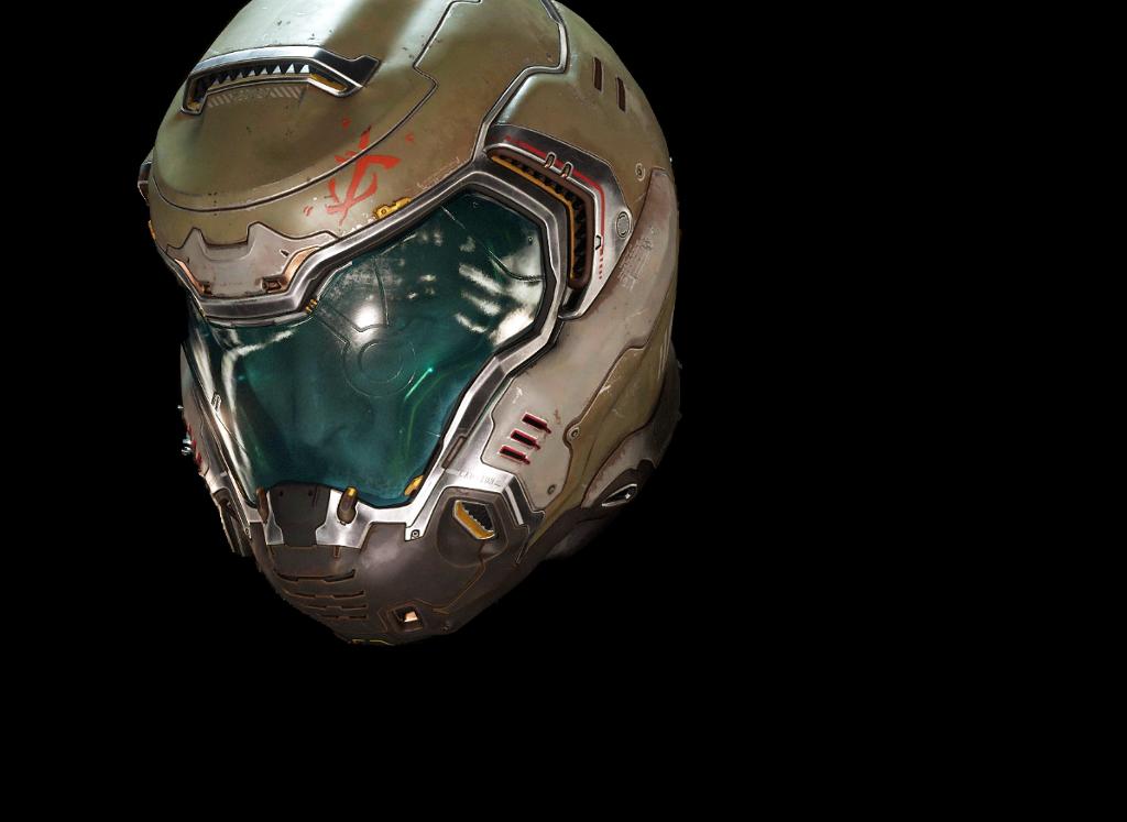 clipart royalty free Doom transparent helmet. Doomguy marine preator suit