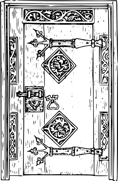 clip royalty free library Door black and white clipart. Ancient clip art at