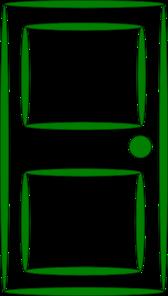 graphic Green clip art at. Door clipart