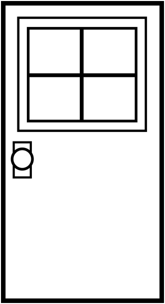 png transparent Door clipart black and white. Panda free