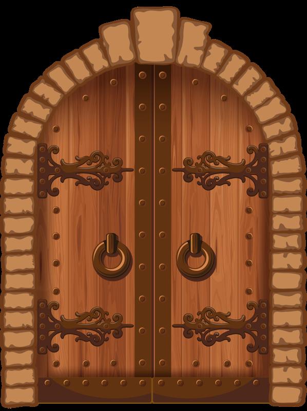 royalty free library  png fot keretek. Vector door wooden