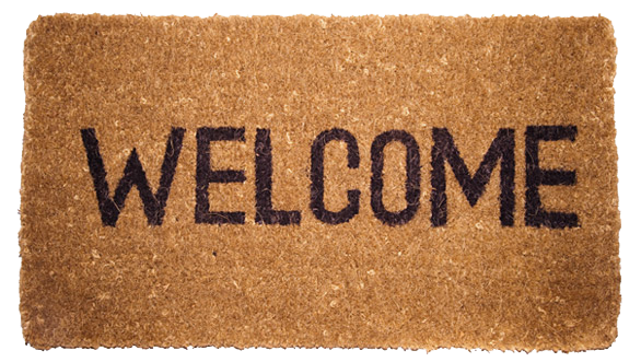 royalty free stock Welcome Home Mat Clipart