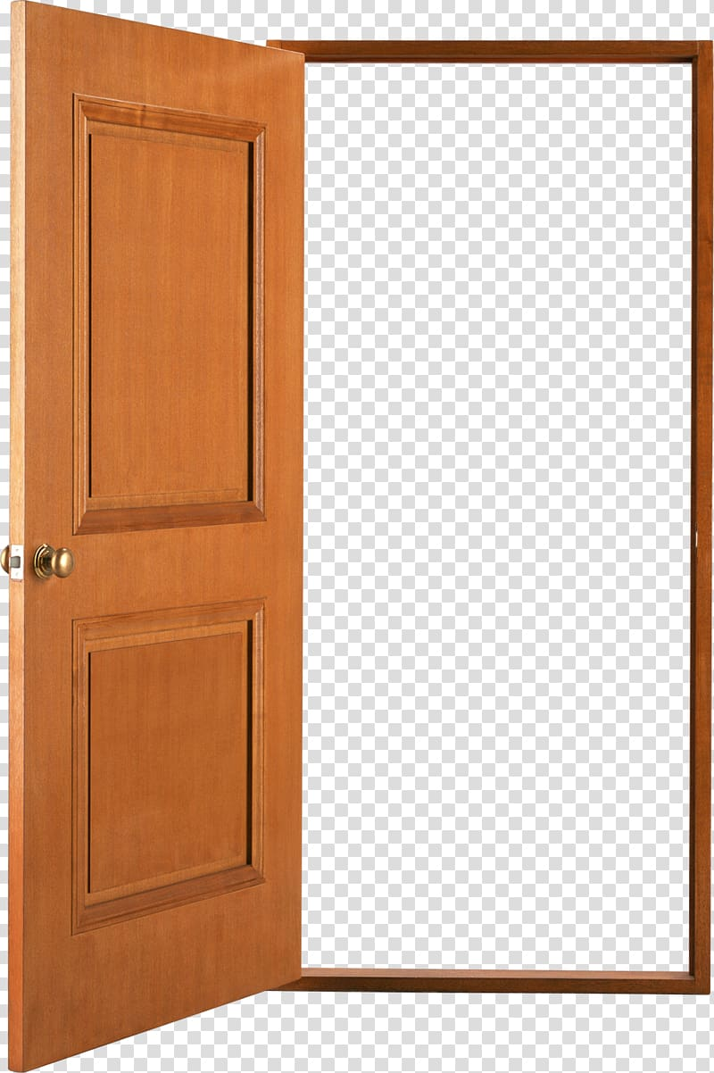 png black and white stock Door transparent. Brown wooden illustration window
