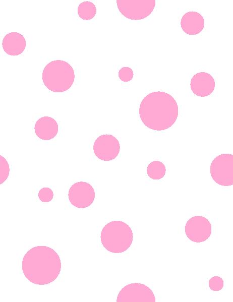 clip stock Pink polka clip art. Dot clipart