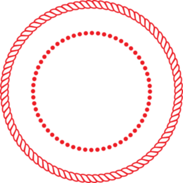 black and white library Round Circle Rope Border W Dots Seal Med