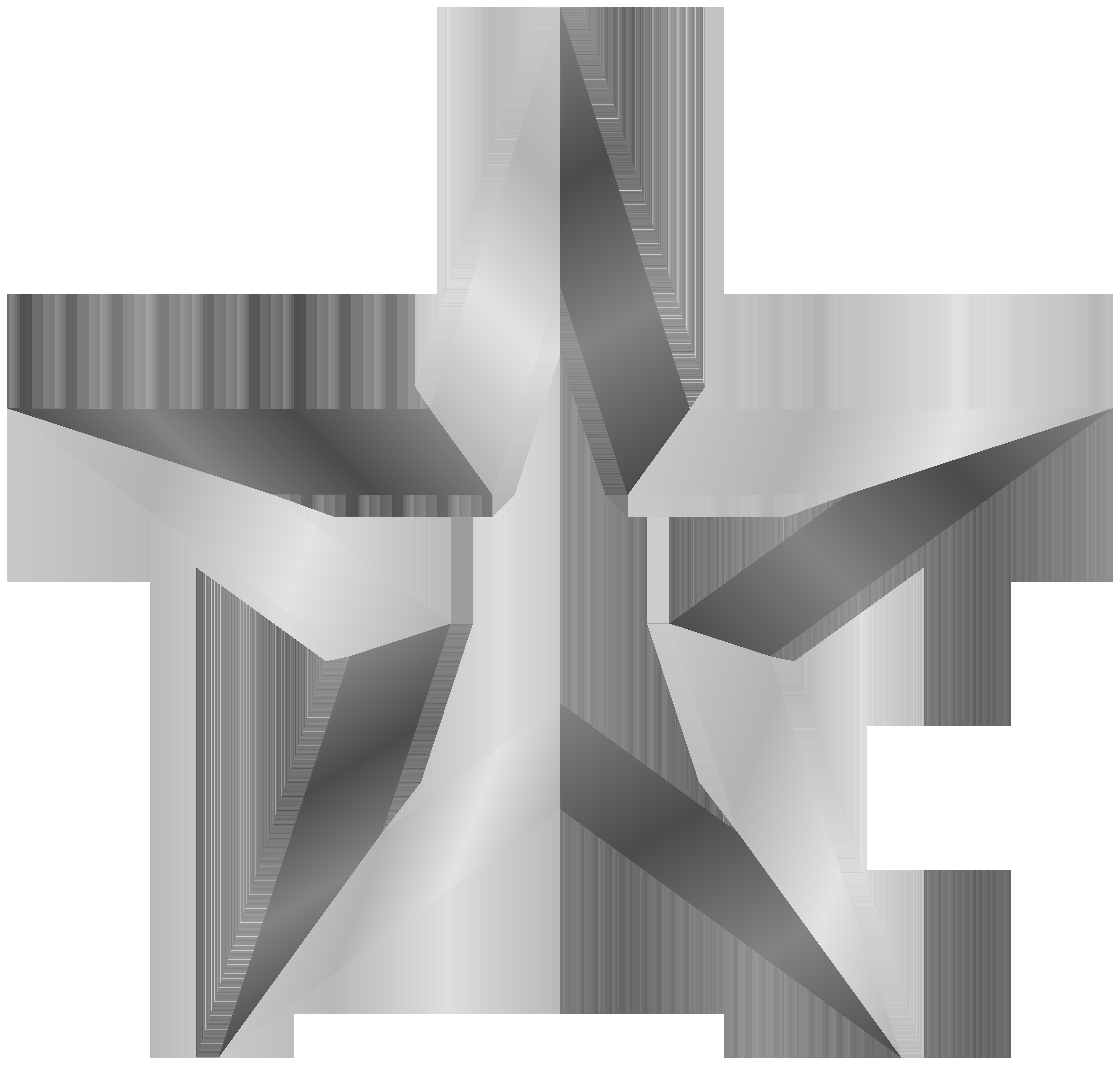 image freeuse Silver Star Transparent PNG Clip Art Image
