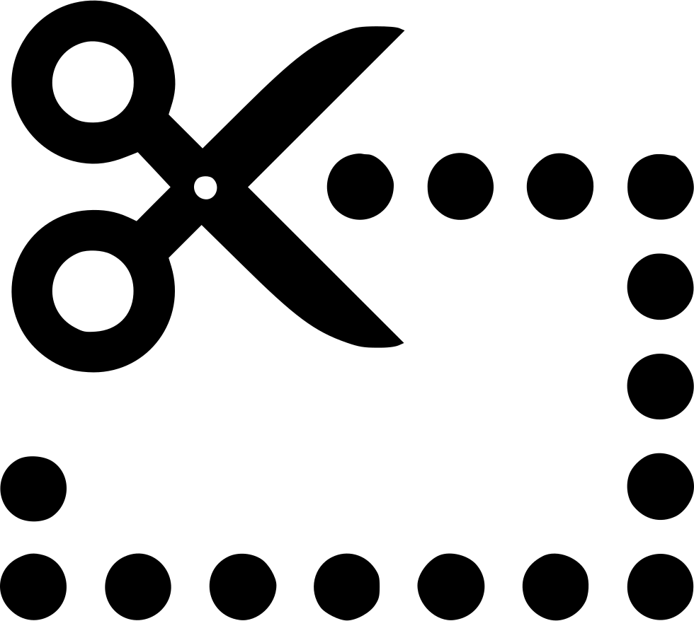 vector transparent Scissors Dotted Line Svg Png Icon Free Download