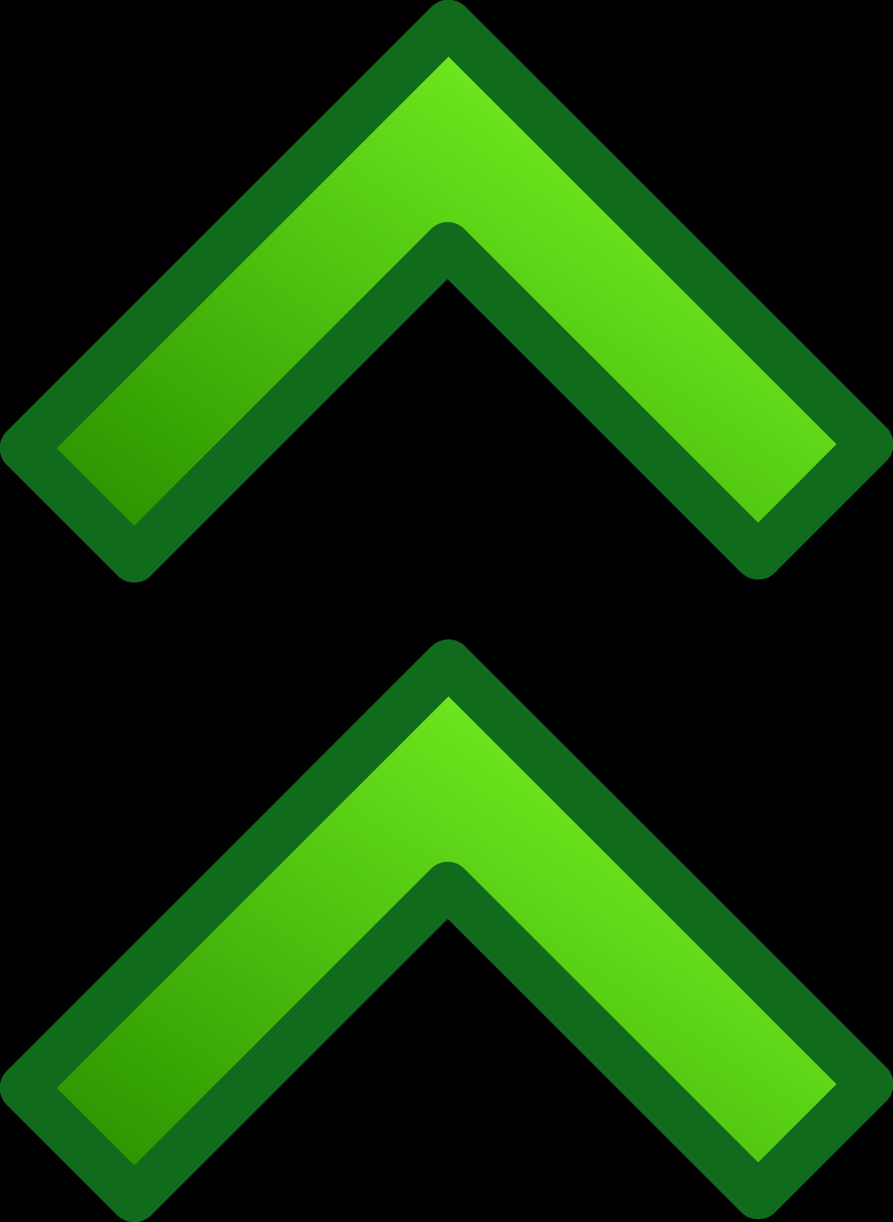 svg free stock Double arrow clipart. Green arrows set big