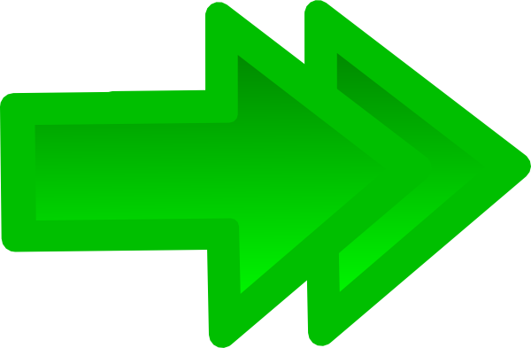 png freeuse stock Forward in green clip. Double arrow clipart