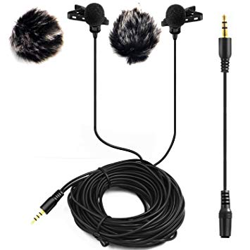 svg library Clip mic double. Dual headed lavalier microphone