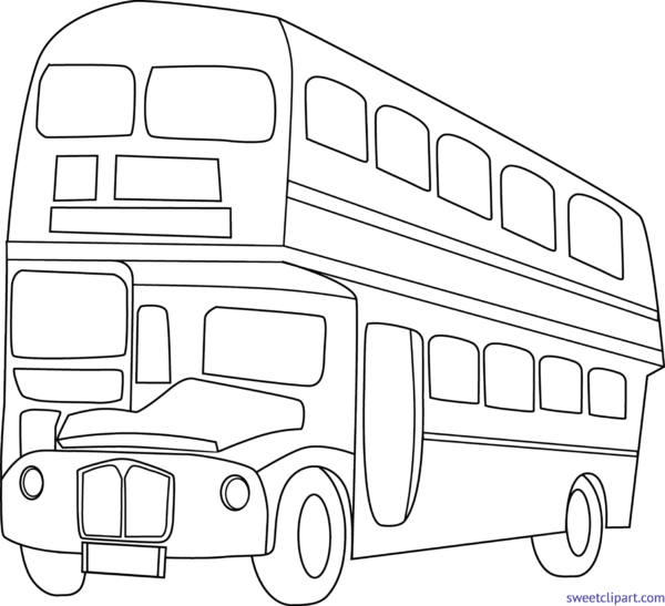jpg free library Sweet clip art page. Bus black and white clipart