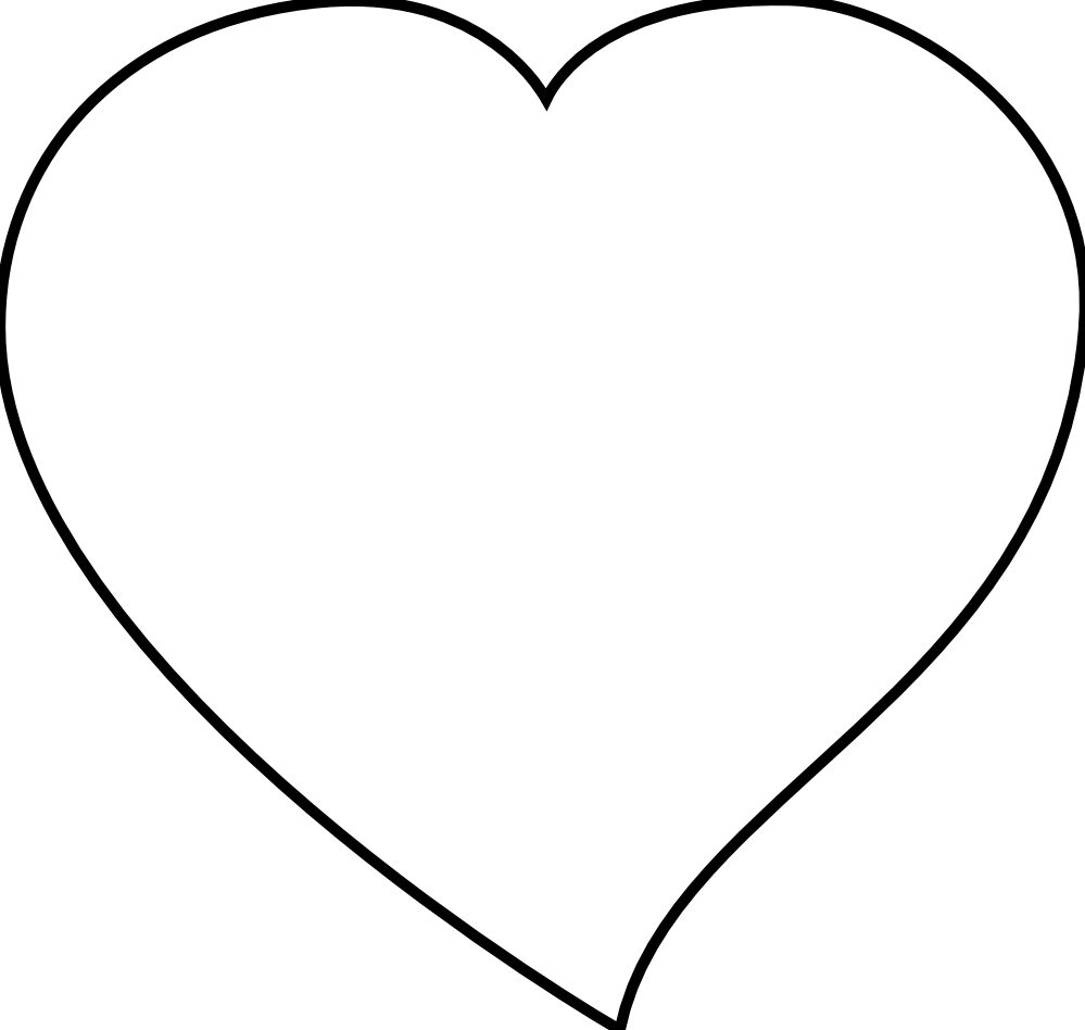 vector transparent library Wikiclipart. Double heart clipart black and white