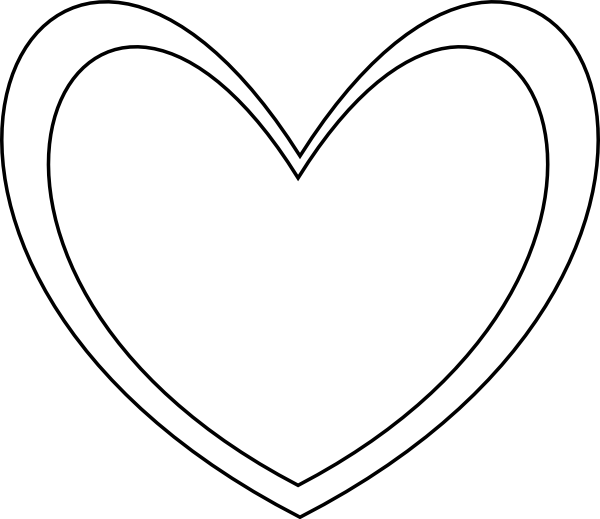 picture transparent download Clip art at clker. Double heart clipart black and white